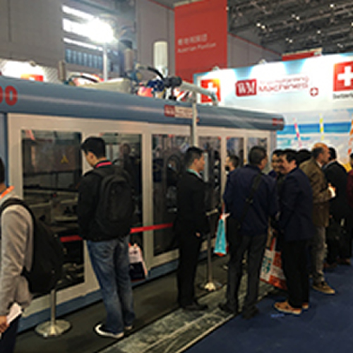 Termoformadora Twist 700, de WM Thermoforming Machines, en Chinaplas 2018.